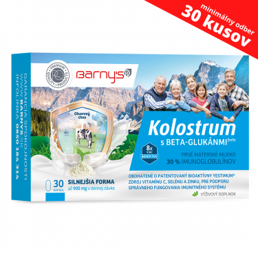 Barny's Kolostrum s BETA-GLUKÁNMI forte 30 cps